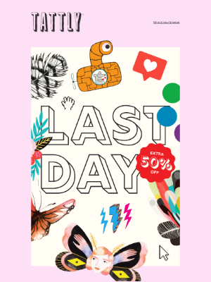 Tattly - It's the Last Day of our Sale on Sale!