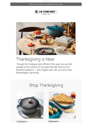 Le Creuset - Your Colorful Kitchen Ally for Stress-Free Holidays. Shop Thanksgiving Essentials.