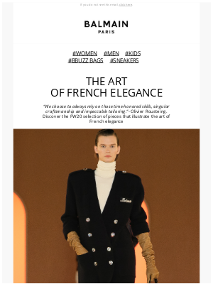 Balmain Paris - THE ART OF FRENCH ELEGANCE | FW20 COLLECTION
