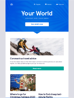 Skyscanner (UK) - Coronavirus travel advice