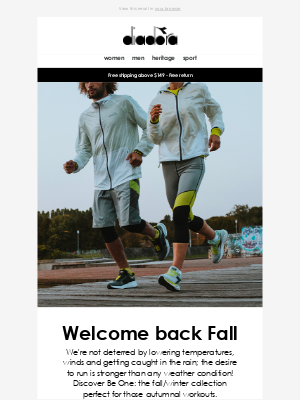 Diadora - Be One: running clothes for fall