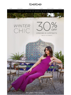 bebe - Select Dresses 30% Off + Additional Savings
