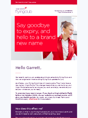 Virgin Atlantic - Exciting changes to your miles are coming…