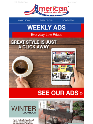 American Furniture Warehouse - ✅ Check out our weekly ads