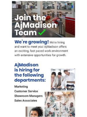 AJ Madison - We're Hiring! Here's your chance to join the AjMadison team!