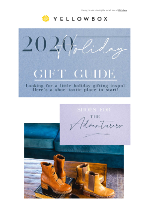 Yellow Box Shoes - 🎁✨Holiday Gift Guide✨🎁Is Here!