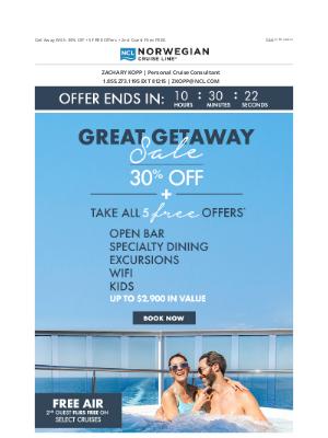 Norwegian Cruise Line - LAST CHANCE For Great Savings!