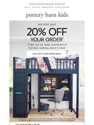 Pottery Barn - Your thank-you gift! Special TREAT inside!
