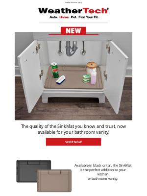 WeatherTech - Now Available: SinkMat - Bathroom Vanity