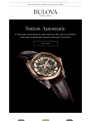 Bulova - A Skeletonized Automatic with Bold Style for Design Aficionados