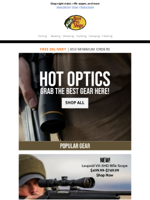 Bass Pro Shops - Lock in on these HOT optics