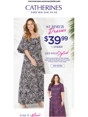 Catherines - ***RE: Shop Catherines summer dresses $39.99 & under