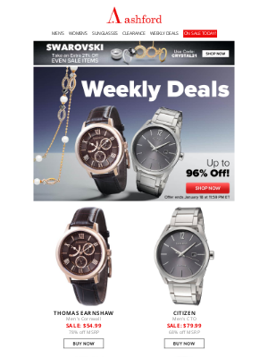 Ashford - Weekly Deals – Up to 96% off!