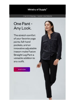 Ministry of Supply - Fusion Straight Leg Pant: So Many Looks (Now in New Colors)