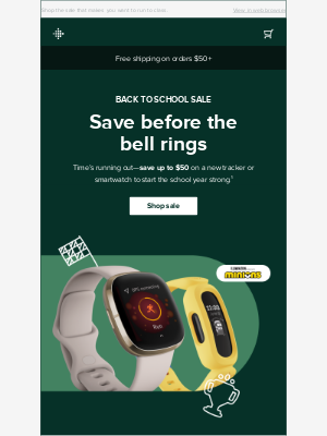 Fitbit - Pencils down! Deals up to $50 off end today.