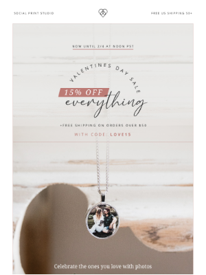 Social Print Studio - Celebrating Love With 15% Off Everything 💓