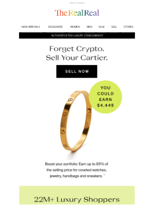 The RealReal - Forget crypto. Sell your Cartier.