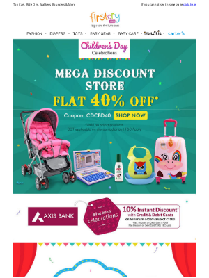 FirstCry (India) - The Happiness Store! Get Flat 50% OFF >
