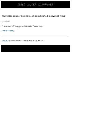 The Est̩e Lauder Companies - The Estée Lauder Companies Inc. SEC Filing