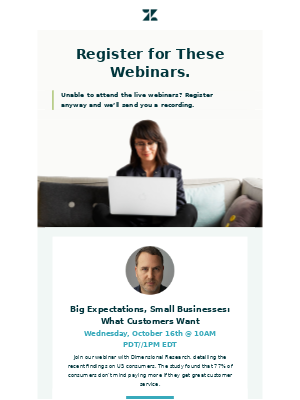 Your October webinars are inside
