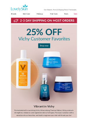 LovelySkin - 25% Off Vichy Customer Favorites