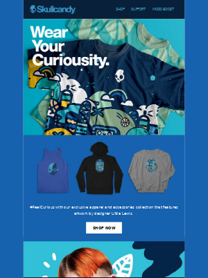 Skullcandy Inc. - Vibe with the #FeelCurious Threadless drop.