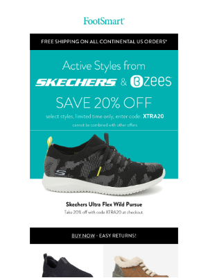 FootSmart - Active Styles From Skechers and Bzees!