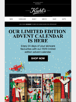 Kiehl's (UK) - Patricia, Our Advent Calendar is here!