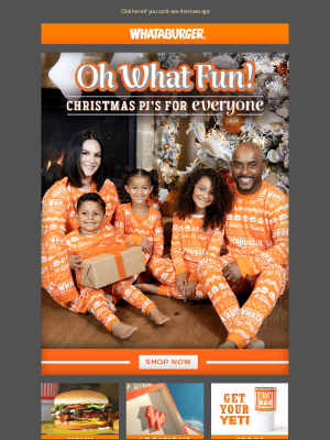 Whataburger - Christmas morning essentials are now in stock! Shop our Whataburger Pjs now!