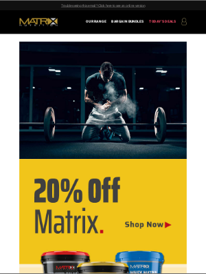 Matrix Nutrition (UK) - 24 Hours – 20% Off!