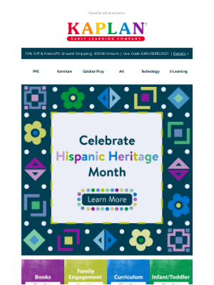Kaplan Early Learning - 🎊Celebrate Hispanic Heritage Month With These Tools & Resources!🎊
