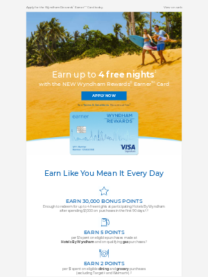 Wyndham Hotel Group - Your Chance to Earn up to 4 Free Nights Is Here