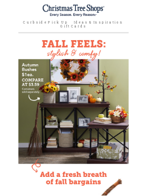 Christmas Tree Shops - Home decor deals for all the fall feels!