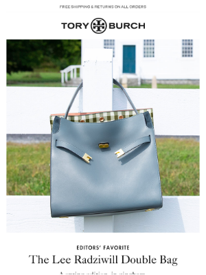 Tory Burch - The Lee Radziwill Double Bag. New in gingham.