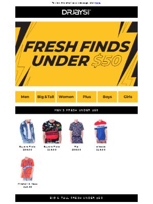 Fresh Under $50!