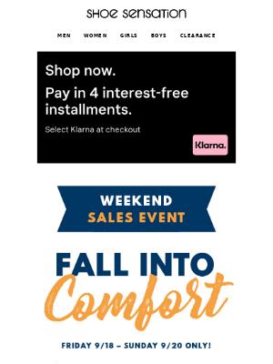 Shoe Sensation Inc - 🍁 Fall into Comfort Weekend Sales Event!