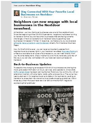Nextdoor - [New post] Stay Connected With Your Favorite Local Businesses on Nextdoor