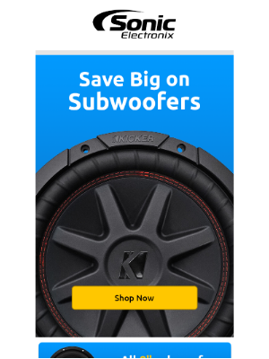 Sonic Electronix - Our top picks for all our subwoofers on sale!