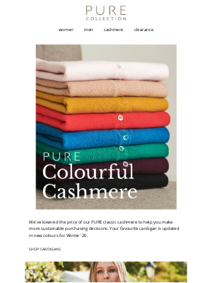 Pure Collection (UK) - PURE Colourful Cashmere.