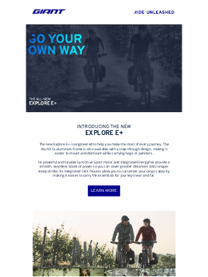 Giant Bicycles - Go Your Own Way ⚡
