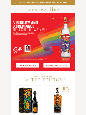 Reserve Bar - Limited Editions. Unlimited Appeal.