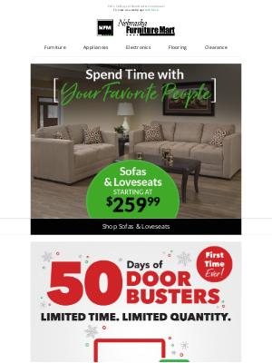 Nebraska Furniture Mart - Extra Seating Starting at $259!