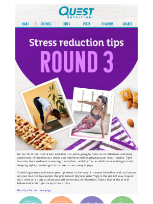 Quest Nutrition - Don't Be Stressed, Decompress With Quest