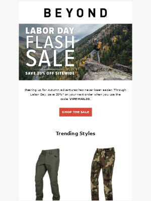 Beyond Clothing - Labor Day VIP Flash Sale