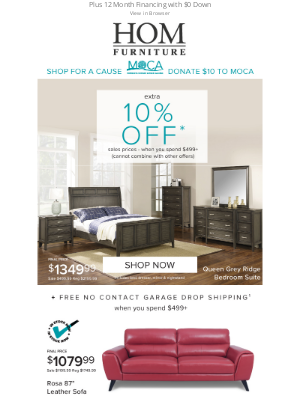 HOM Furniture - HOM, a Better WAY to Shop - Extra 10% Off Today
