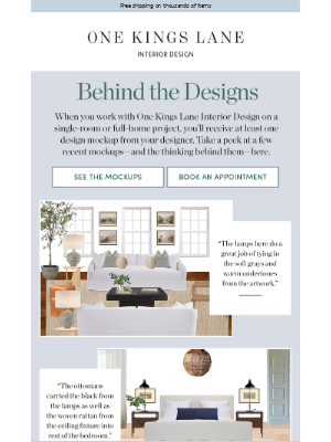 One Kings Lane - Want to check out some mockups?