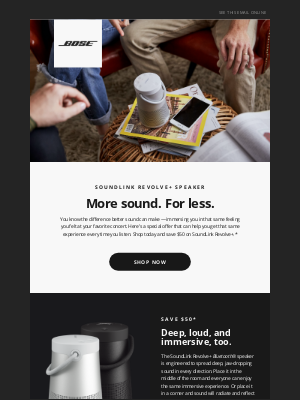 Bose - Exclusive offer | $50 off SoundLink Revolve+