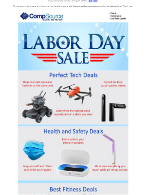 CompSource - Hurry… Our Labor Day Sale is on now!
