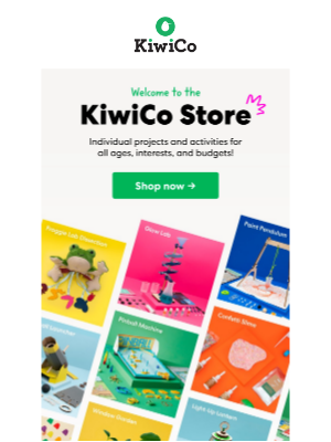 Kiwi Co. - KiwiCo Store offers individual projects for all ages, interests and budgets!