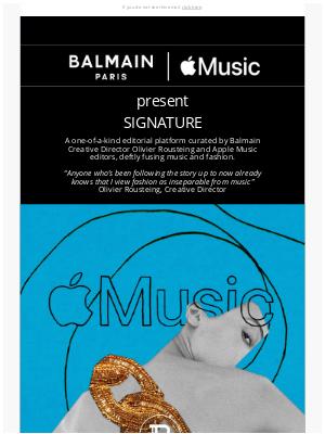 Balmain Paris - BALMAIN x APPLE MUSIC